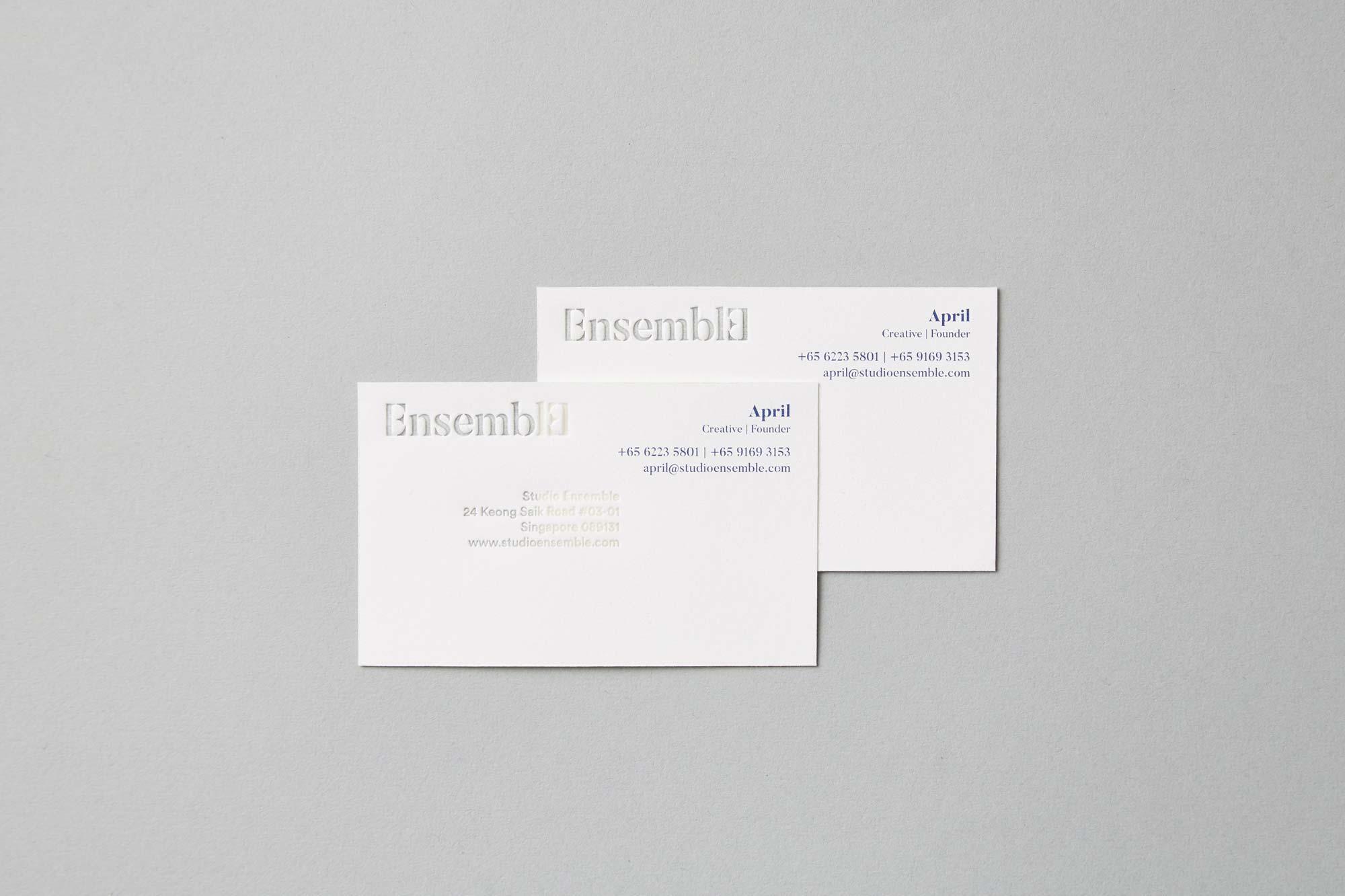 Business Card, Studio Ensemble   Allegro Print